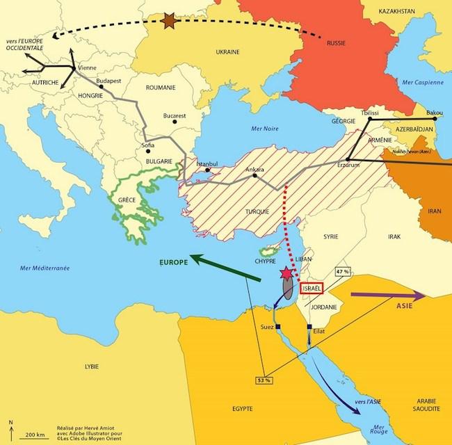 L'accord gazier israélo-européen sous le feu des critiques dans - DROIT carte_israel-_gaz