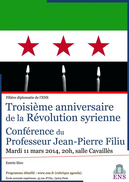 syrie Février 2014 affiche Filiere diplomatie Syrie