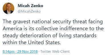 USA: La plus grande menace est l'indifférence à la dégradation des niveaux de vie dans - CONDITIONS DE VIE... zenkotweet